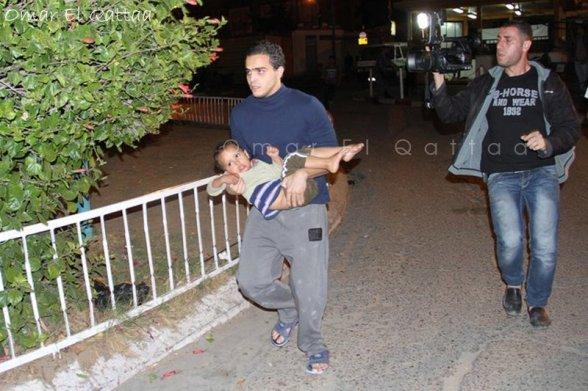 Nov 21 2012 Child wounded Photo by Omar Al Qatta - Gaza Under Attack