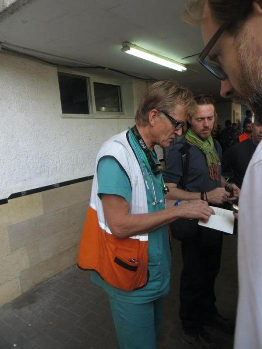 Dr. Mads Gilbert back in Gaza Again! Mads Gilbert also was present in Gaza during the war Cast Lead, 2008-2009 in which 1500 people incl 352 children lost their lives in a 22 day long assault.