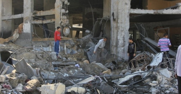 Nov 21 2012 Magnitude  of the devastation caused by the Zionist bombing Gaza - Photo by PalToday