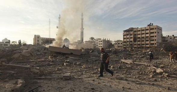 Nov 21 2012 The Israeli Targeting of the Abu Khadra governmental complex in Gaza - Photo by PalToday 5