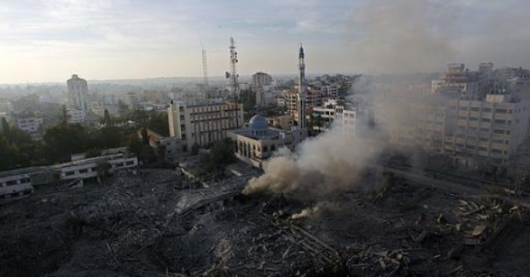Nov 21 2012 The Israeli Targeting of the Abu Khadra governmental complex in Gaza - Photo by PalToday 6