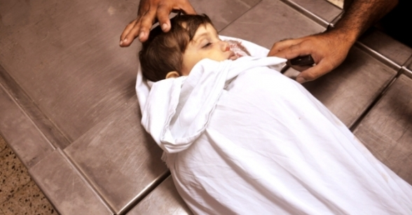 Nov 21 2012 The martyred two year old child Abdul Rahman Naim  - Photo by PalToday
