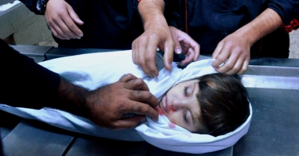 Nov 21 2012 The martyred two year old child Abdul Rahman Naim  - Photo by PalToday 7