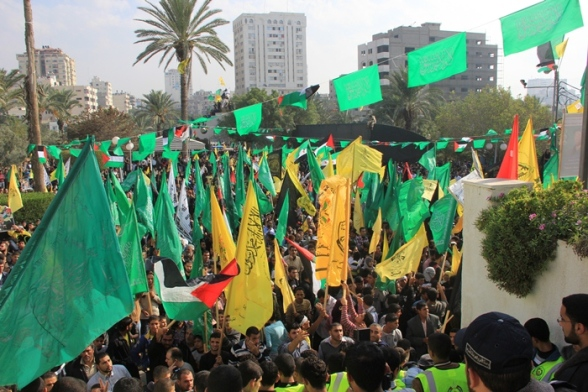 Nov 22 2012 The victory of the resistance in Gaza that unites all Palestinians Photo by PalToday