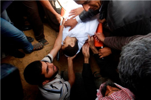 Funeral of child shaheed 13 year old Hamid Younis Abu Dagka  in Gaza - Nov 9, 2012