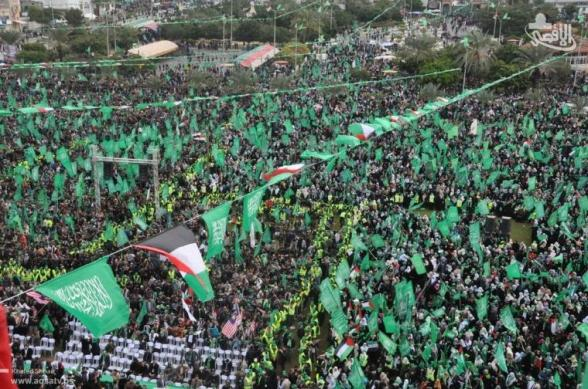 Gaza Celebrates 25 years Hamas & Resistance - Dec 8, 2012 Photo via Paldf
