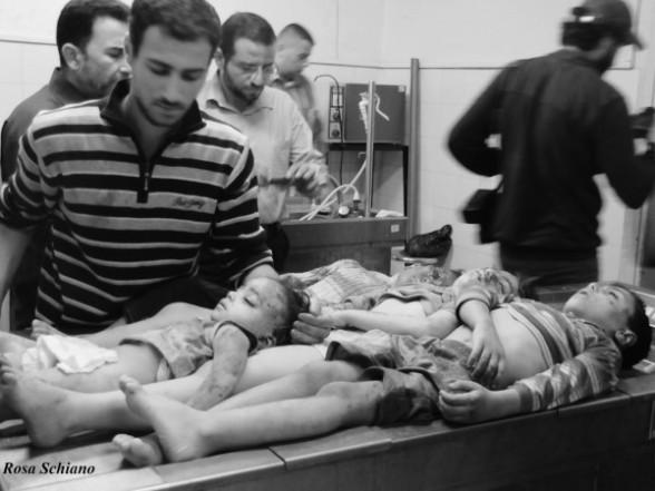 The Al Dalu Family Massacre in Gaza - Photo by Rosa Schiano. (Click the image to read the full report)