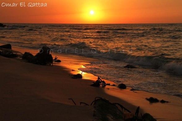 Gaza Sunset - Photo by Omar El Qattaa photographer
