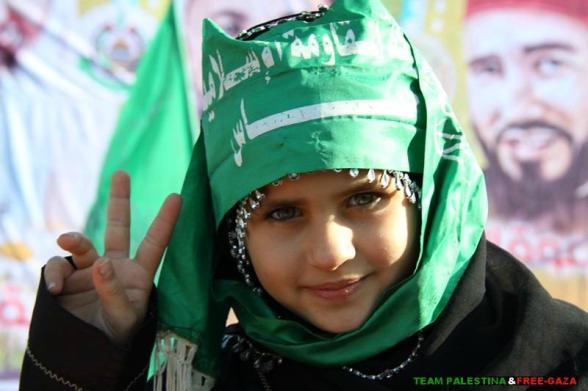 Gaza all in Green - Dec 7, 2012 Photo via TeamPalestina