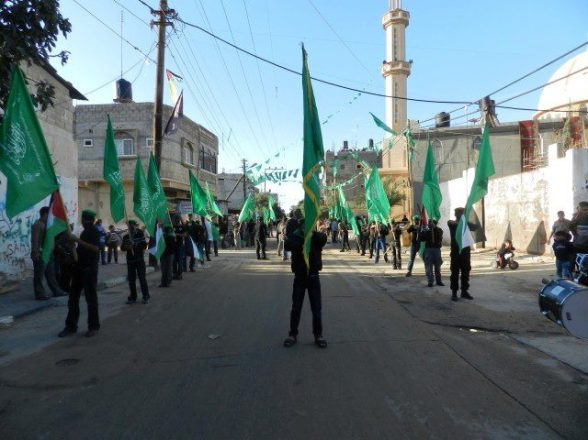 Scouts prepare for Hamas Celebrations & March - Dec 8, 2012 Photo via TeamPalestina