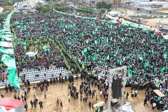 Celebration in Gaza, Dec 8, 2012 Photo via PalDF