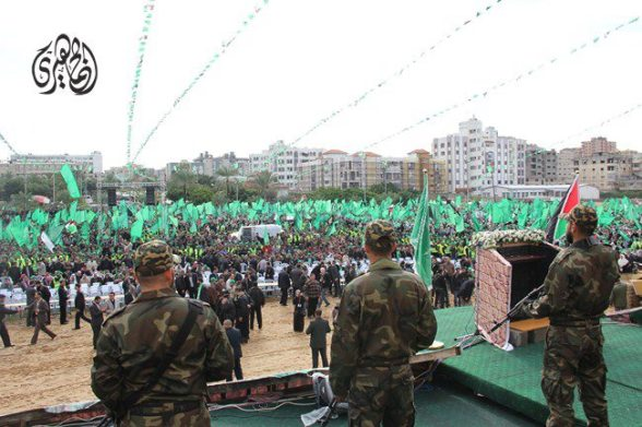 Gaza, Dec 8, 2012 Celebration 25 years Hamas Photo via Paldf