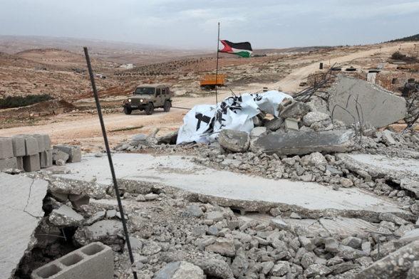 Israeli Forces demolished today at 6am the mosque of the village of Al Mufaqarah located in the Firing Zone 918 in the South Hebron Hills.