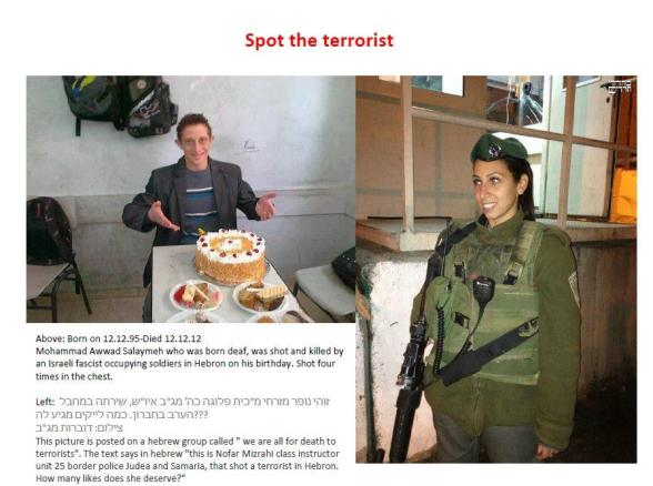 Click to enlarge (Picture was posted by Israelis on Facebook)