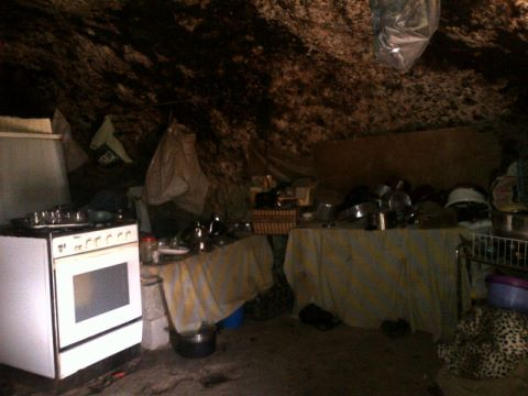 Caves that people in mufaqra live in the Israelis do not give them permits to build on their land Photo by tweet_palestine