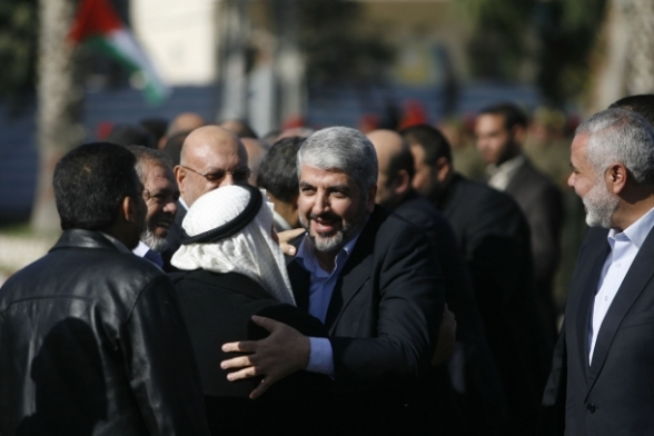 Hamas25 Meshaal arriving home. 45 years after exile Gaza Dec-7, 2012 Photo by Safa