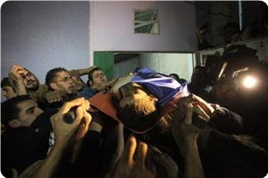 Funeral of 17-year-old Muhammad Salymeh, who was killed Wednesday evening by the IOF