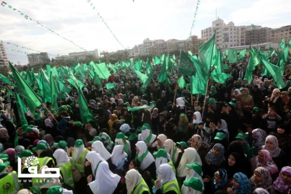 Gaza Celebrates 25 years Frist Intifada Hamas25 - Dec 8, 2012 - Photo by SAFA