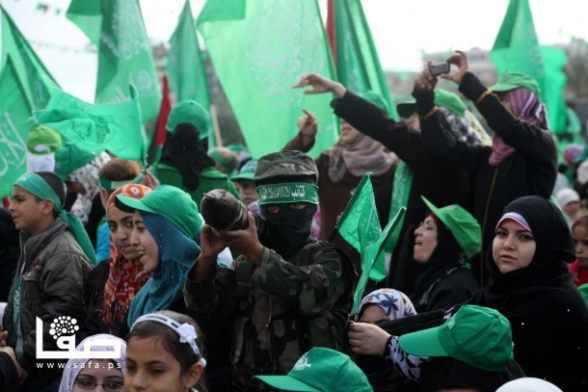 Gaza Celebrates 25 years Frist Intifada #Hamas25 - Dec 8, 2012 - Photo by SAFA