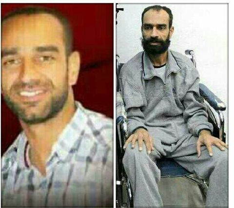 Samer before and after his hungerstrike, last picture made at court few days ago