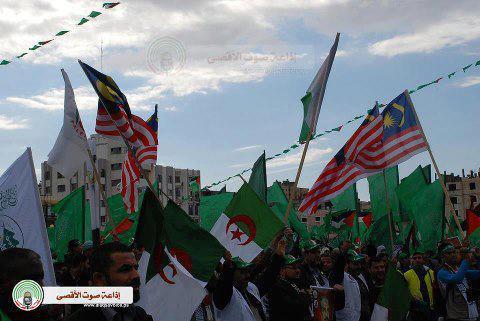 Gaza Celebrating 25 years of resistance. Hamas - First Intifada - Dec 8, 2012 Photo via Paldf