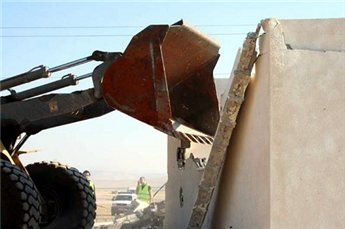 "Israeli authorities frequently demolish ""illegal"" Palestinian structures."