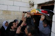 Palestinians carry the body of Lubna Hanash during her funeral in the West Bank town of Bethlehem January 23, 2013. Israeli soldiers shot and killed Hanash, a 21-year-old Palestinian woman, near Hebron on Wednesday and wounded another local youth, Palestinian medics said. Asked about the incident, an Israeli army spokeswoman said Palestinians had thrown petrol bombs at soldiers, who then opened fire. REUTERS/Ammar Awad