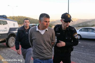 Israeli police arrest mohammed khatib during march to #babalshams by ActiveStills