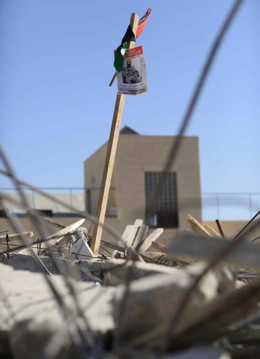 demolished house of Rafat Issawi (Brother of Hunger Striker Samer Issawi)