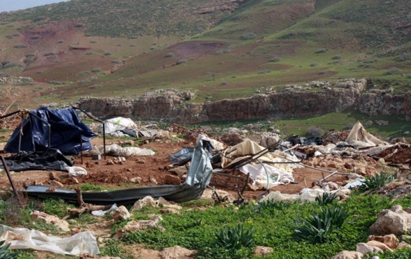 Jan 23, 2013 Aftermath of demolitions by Israeli Forces – Al Maleh, Northern Jordan Valley - Photo by WAFA