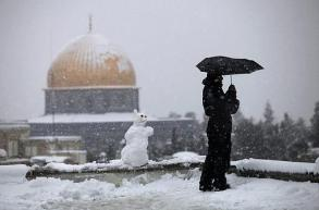 Al Quds during the snow