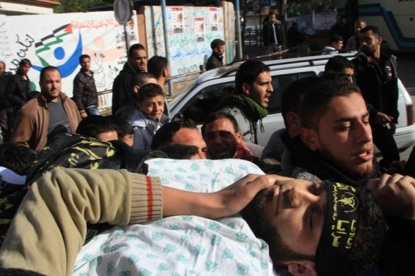Funeral shaheed Harazin - Photo by Saraya AlQuds Brigades 1