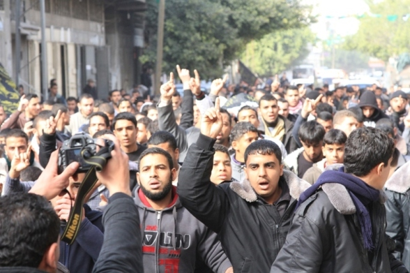 Funeral shaheed Harazin - Photo by Saraya AlQuds Brigades