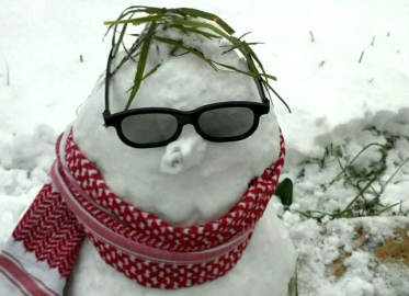 Jan 10 2013 A snowman in the Occupied West Bank. Photo by Saed Adel Atshan
