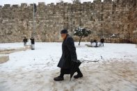 Jan 10 2013 - Al Quds in White - Snow in Palestine - Photo by Afif Amira-WAFA 1