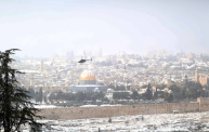 Jan 10 2013 - Al Quds in White - Snow in Palestine - Photo by Afif Amira-WAFA 10