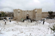 Jan 10 2013 - Al Quds in White - Snow in Palestine - Photo by Afif Amira-WAFA 9