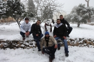 Jan 10 2013 Blanket of snow covers Ramallah - Photo by WAFA 4