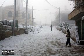 Jan 10 2013 - Qusra in the snow in Palestine - Photo by Qusra net 1