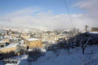 Jan 10 2013 - Qusra in the snow in Palestine - Photo by Qusra net 3