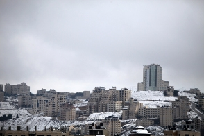 Jan 10 2013 Ramallah covered in Snow - Snow in Palestine - Photo by Eyad Jadallah- WAFA 2