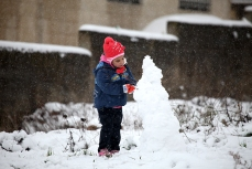 Jan 10 2013 Ramallah covered in Snow - Snow in Palestine - Photo by Eyad Jadallah- WAFA 5