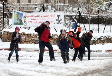 Jan 10 2013 Ramallah covered in Snow - Snow in Palestine - Photo by Eyad Jadallah- WAFA 6