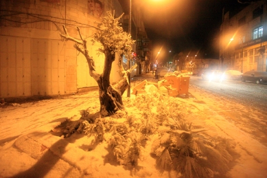 Jan 10 2013, Snow in Ramallah - Photo by WAFA