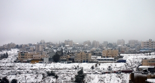 Jan 10 2013 Snow in Palestine - Ramallah - Photo by WAFA