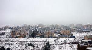 Jan 10 2013 Snow in Palestine - Ramallah - Photo by WAFA