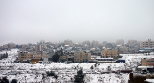 Jan 10 2013 Snow in Palestine - Ramallah - Photo by WAFA 1