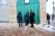 Snow in Ramallah
