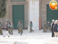 Jan 29 2013 Female Israeli Soldiers March through Aqsa Compound - Photo by QudsMedia 12