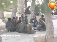 Jan 29 2013 Female Israeli Soldiers March through Aqsa Compound - Photo by QudsMedia 15